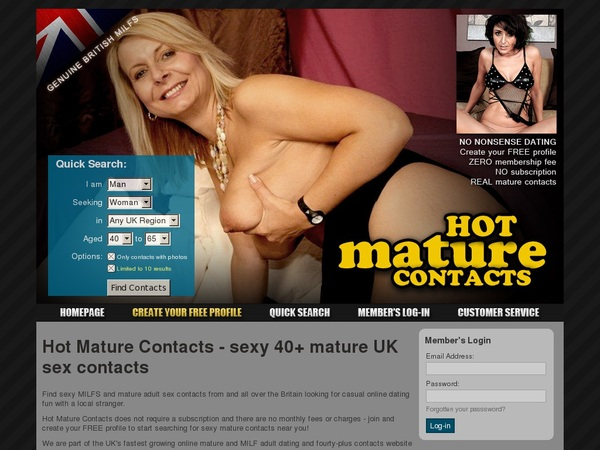 Hot Mature Contacts Cost